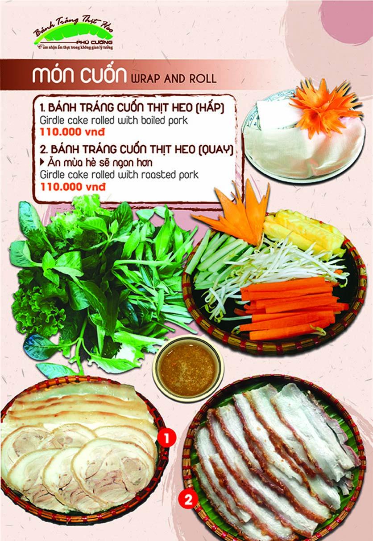 Menu Bánh Tráng Thịt Heo Phú Cường - Yết Kiêu 2