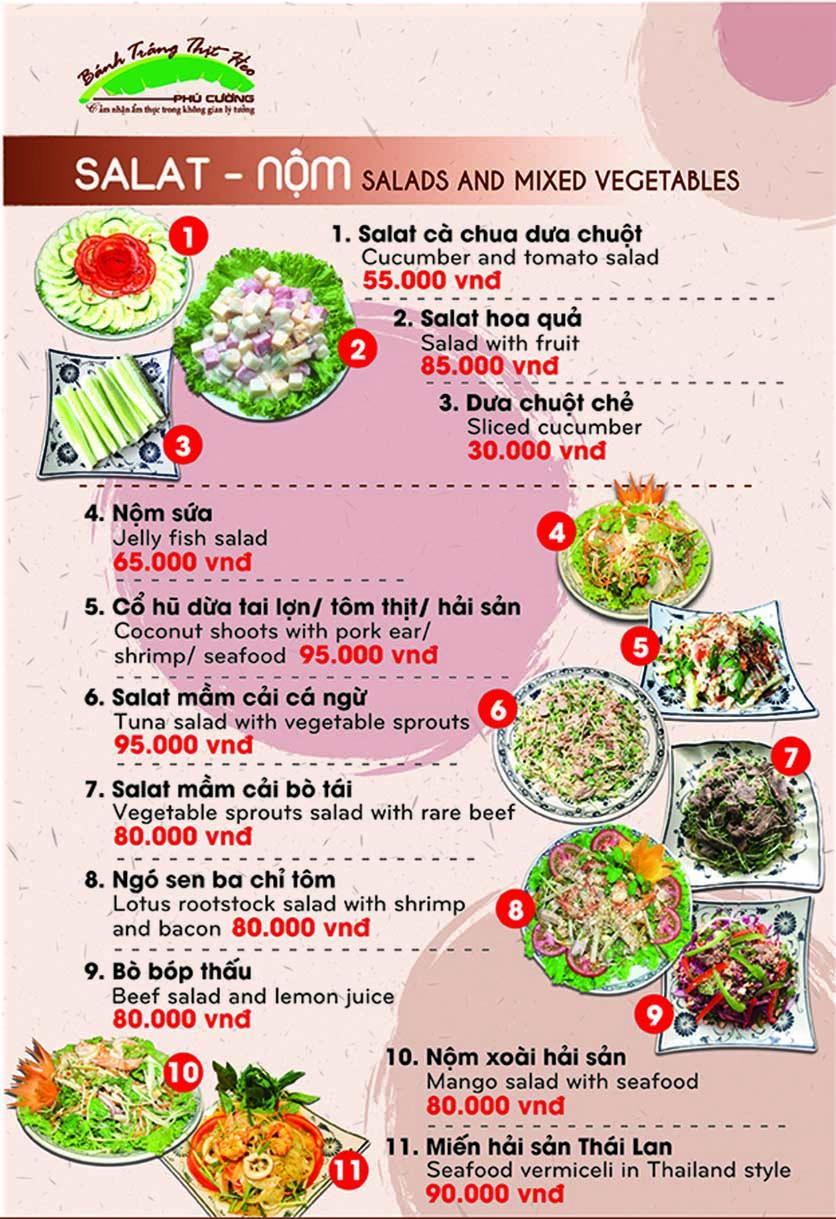 Menu Bánh Tráng Thịt Heo Phú Cường - Yết Kiêu 3