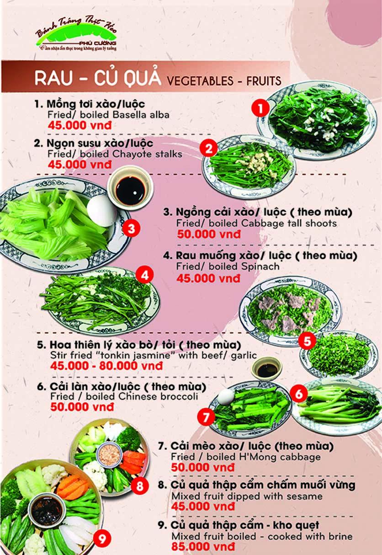 Menu Bánh Tráng Thịt Heo Phú Cường - Yết Kiêu 4