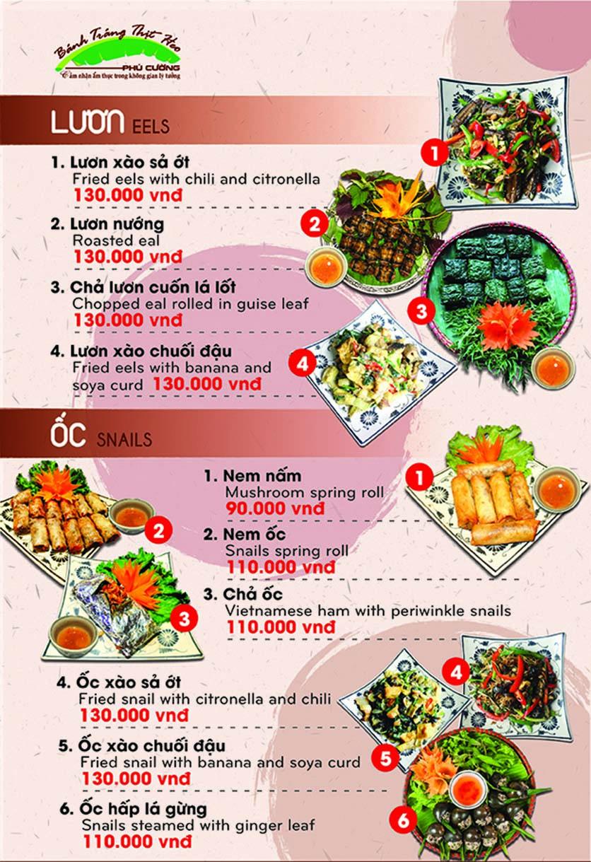 Menu Bánh Tráng Thịt Heo Phú Cường - Yết Kiêu 6