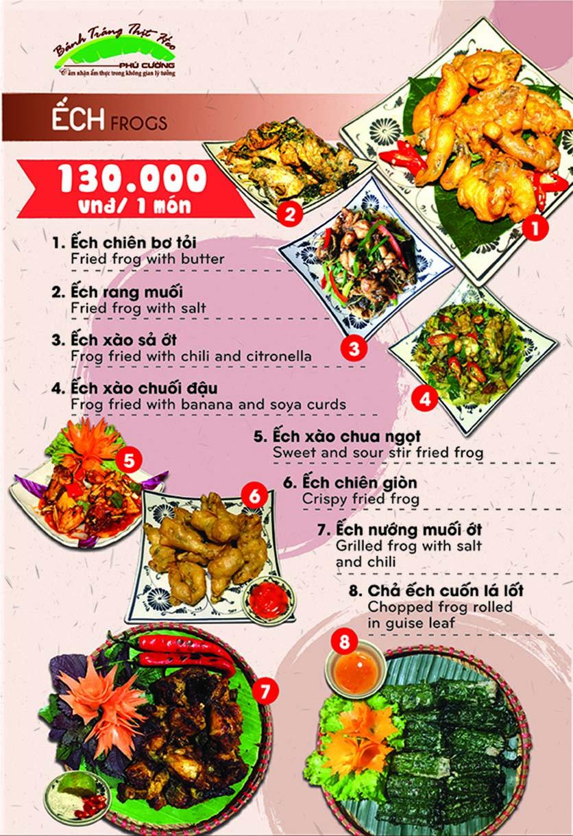 Menu Bánh Tráng Thịt Heo Phú Cường - Yết Kiêu 7