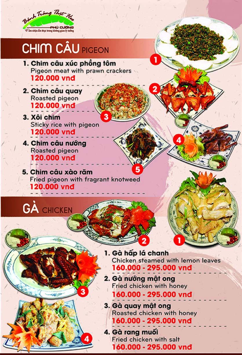 Menu Bánh Tráng Thịt Heo Phú Cường - Yết Kiêu 8