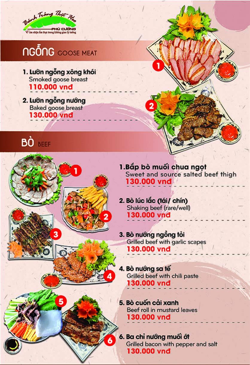 Menu Bánh Tráng Thịt Heo Phú Cường - Yết Kiêu 9