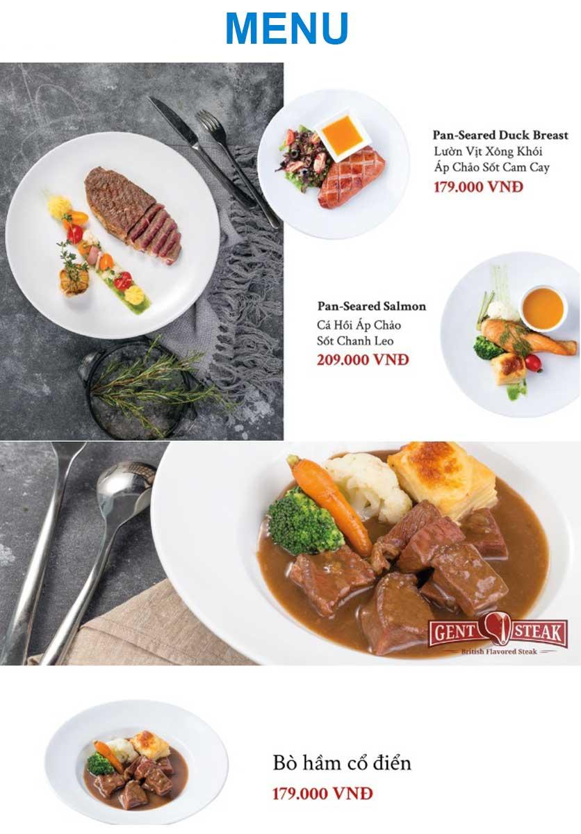 Menu Gent Steak - Hoàng Cầu   3