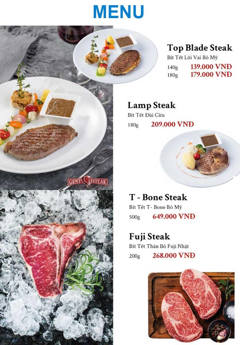 Menu Gent Steak - Hoàng Cầu   4