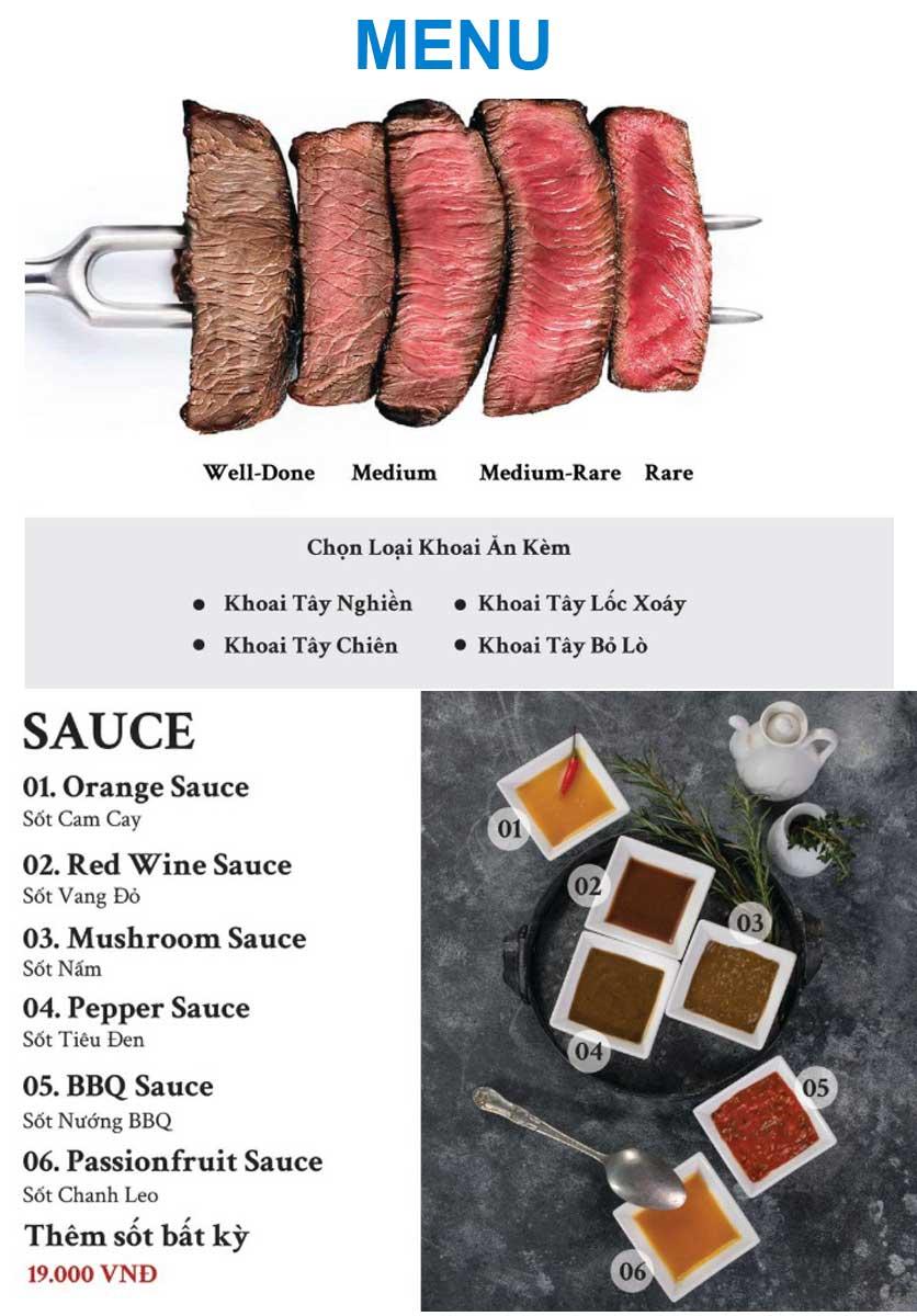 Menu Gent Steak - Hoàng Cầu   5