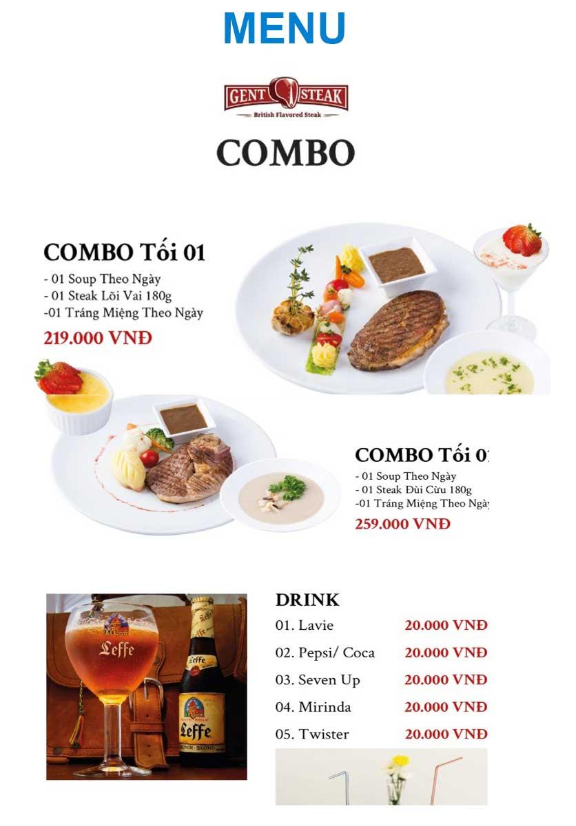 Menu Gent Steak - Hoàng Cầu   7