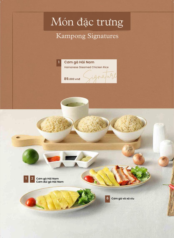 Menu Kampong Chicken House - Cơm gà Hải Nam - Hoàng Đạo Thúy 18
