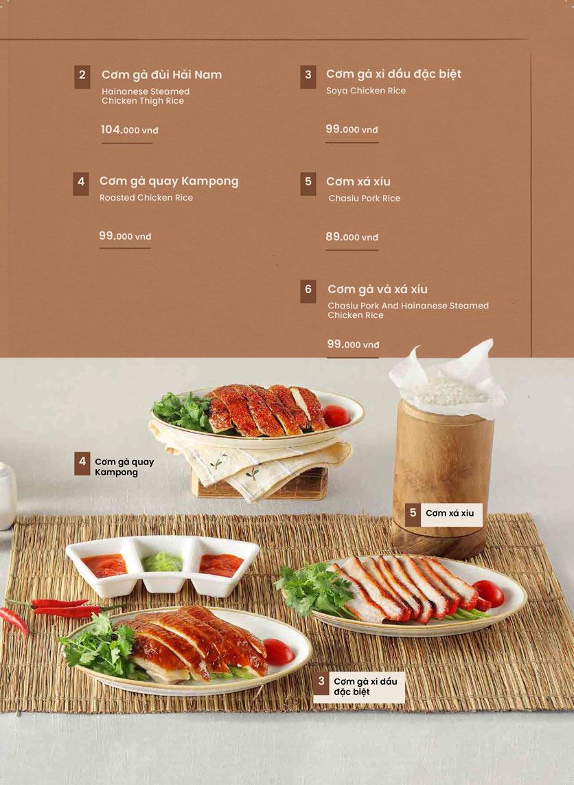 Menu Kampong Chicken House - Cơm gà Hải Nam - Hoàng Đạo Thúy 19