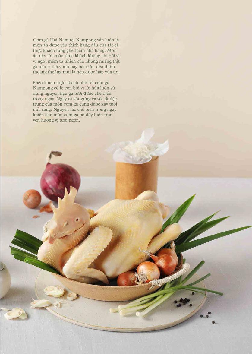 Menu Kampong Chicken House - Cơm gà Hải Nam - Hoàng Đạo Thúy 5
