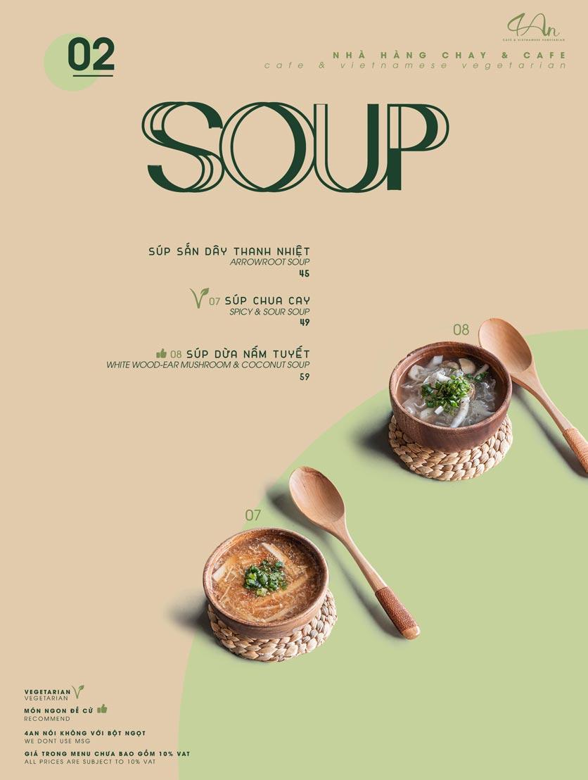 Menu 4An Café & Vietnamese Vegetarian - Nam Kỳ Khởi Nghĩa      2