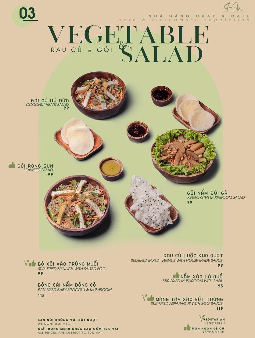 Menu 4An Café & Vietnamese Vegetarian - Nam Kỳ Khởi Nghĩa      3