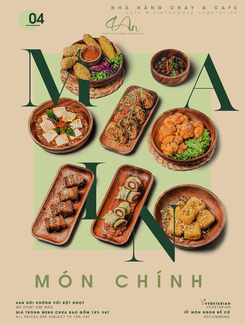 Menu 4An Café & Vietnamese Vegetarian - Nam Kỳ Khởi Nghĩa      4
