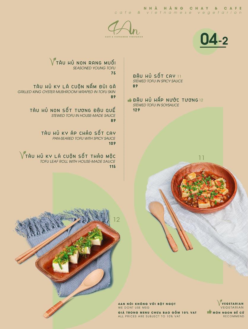Menu 4An Café & Vietnamese Vegetarian - Nam Kỳ Khởi Nghĩa      6