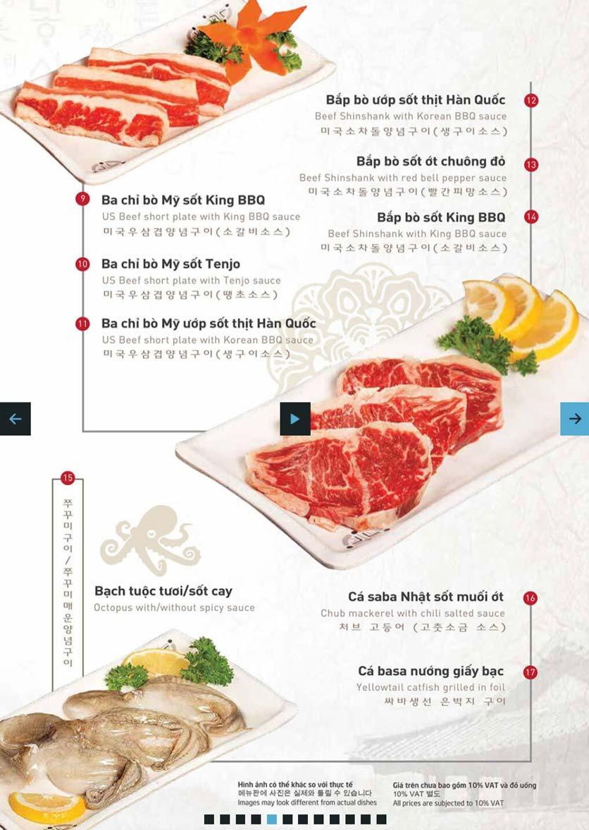 Menu King BBQ Buffet - Hàm Nghi  2