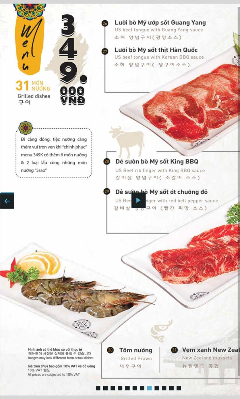 Menu King BBQ Buffet - Hàm Nghi  4