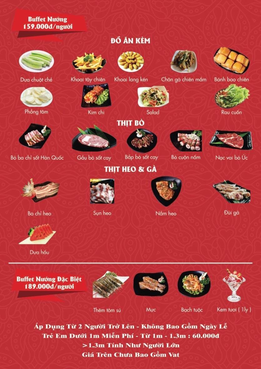 Menu A1 Restaurant - Kim Đồng 1