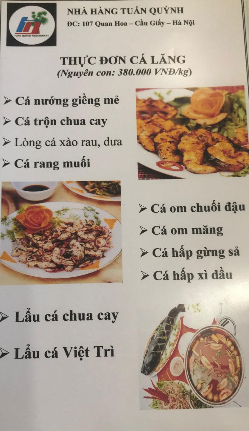 Menu Ẩm Thực Trung Du - Quan Hoa 2