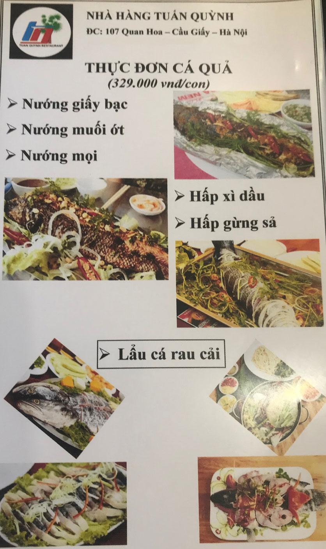 Menu Ẩm Thực Trung Du - Quan Hoa 3