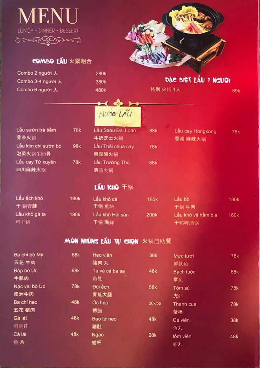 Menu Ẩm thực Trung Hoa – Đài Loan – Tôn Thất Tùng  3