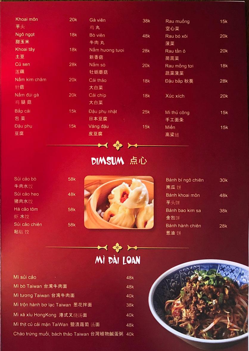 Menu Ẩm thực Trung Hoa – Đài Loan – Tôn Thất Tùng  4