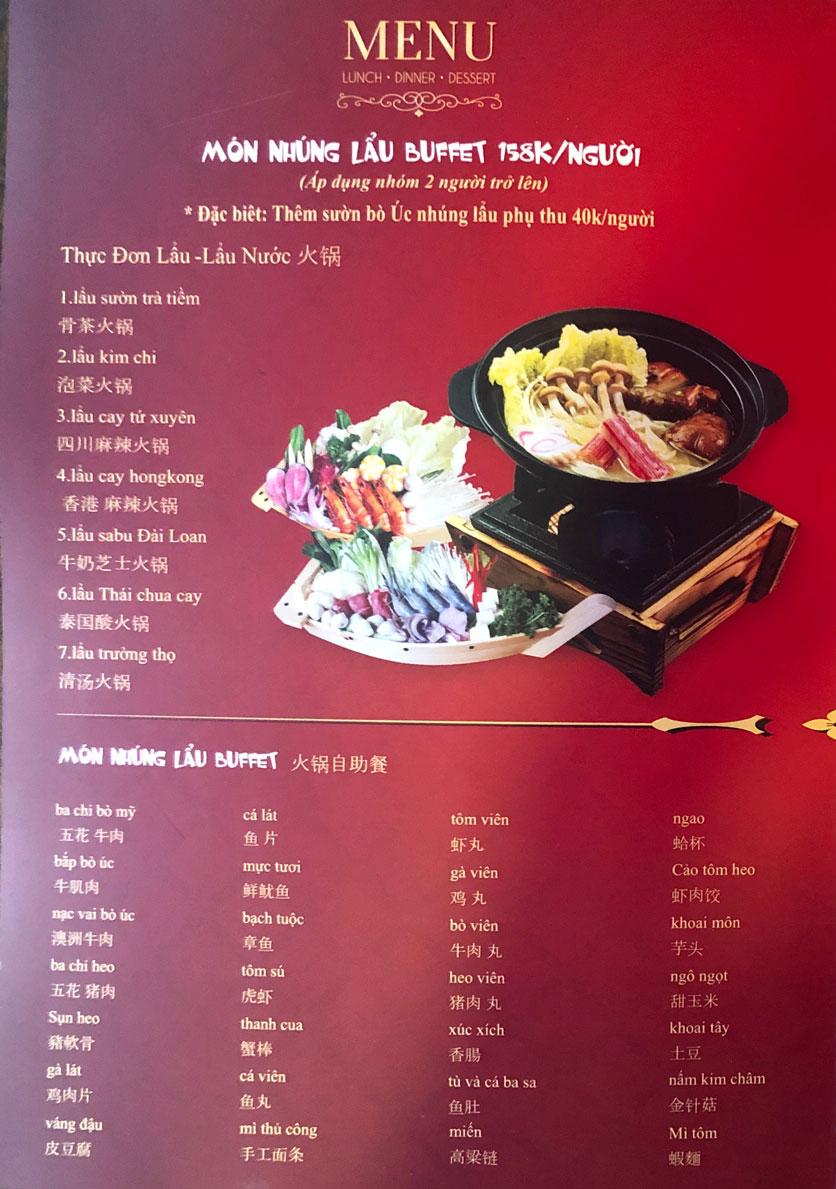 Menu Ẩm thực Trung Hoa – Đài Loan – Tôn Thất Tùng  1