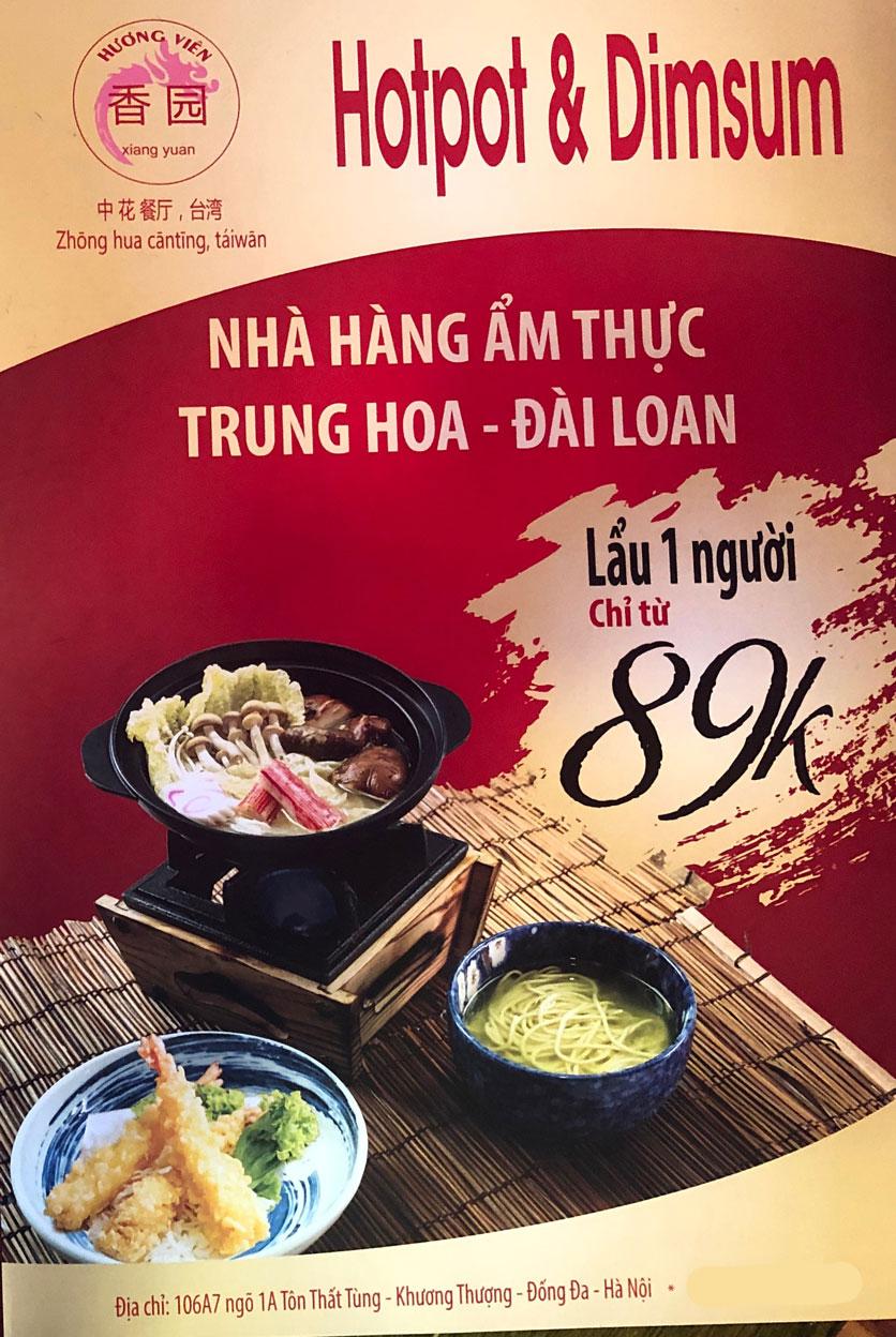 Menu Ẩm thực Trung Hoa – Đài Loan – Tôn Thất Tùng  6