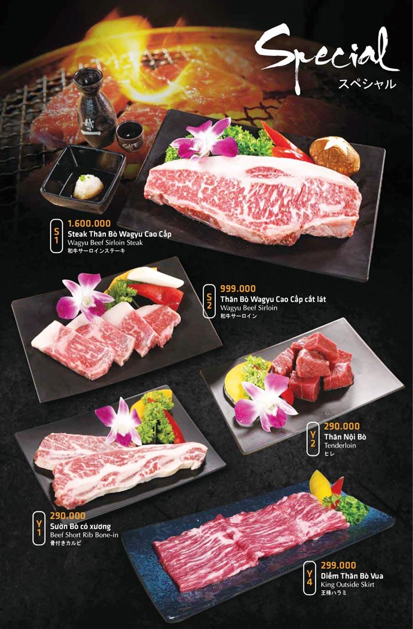 Menu Anrakutei Japanese BBQ - Mạc Đĩnh Chi 17