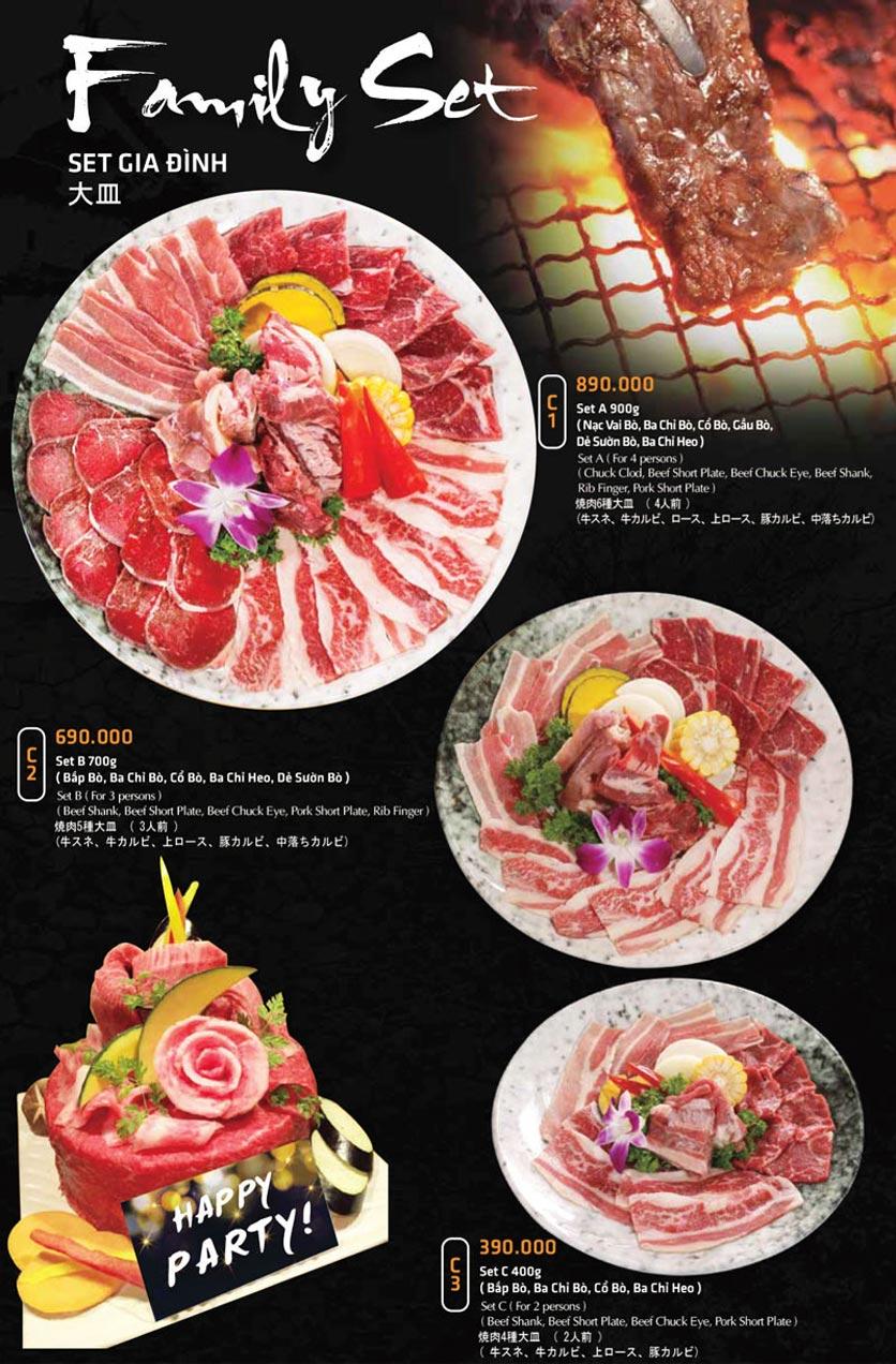 Menu Anrakutei Japanese BBQ - Mạc Đĩnh Chi 18