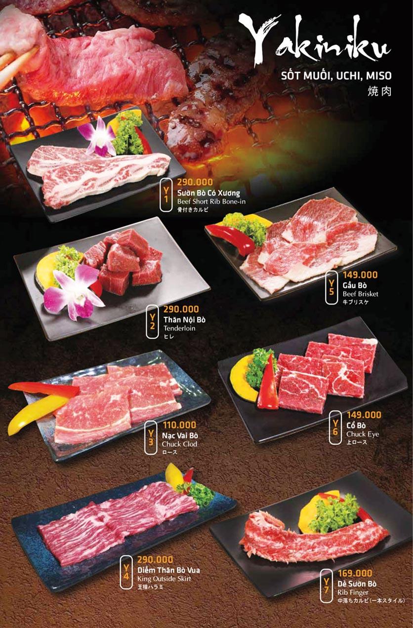 Menu Anrakutei Japanese BBQ - Mạc Đĩnh Chi 19
