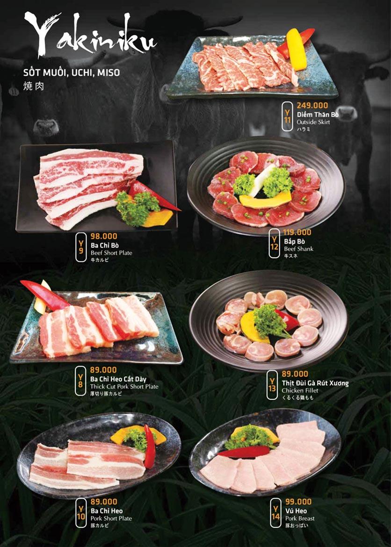Menu Anrakutei Japanese BBQ - Mạc Đĩnh Chi 20