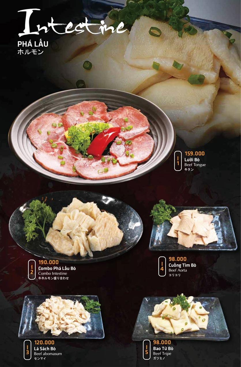 Menu Anrakutei Japanese BBQ - Mạc Đĩnh Chi 21