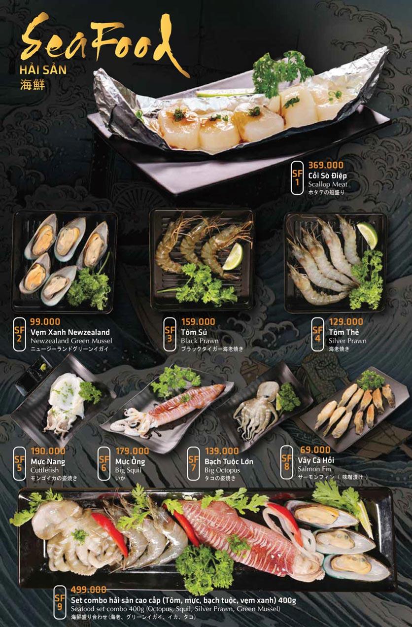 Menu Anrakutei Japanese BBQ - Mạc Đĩnh Chi 22
