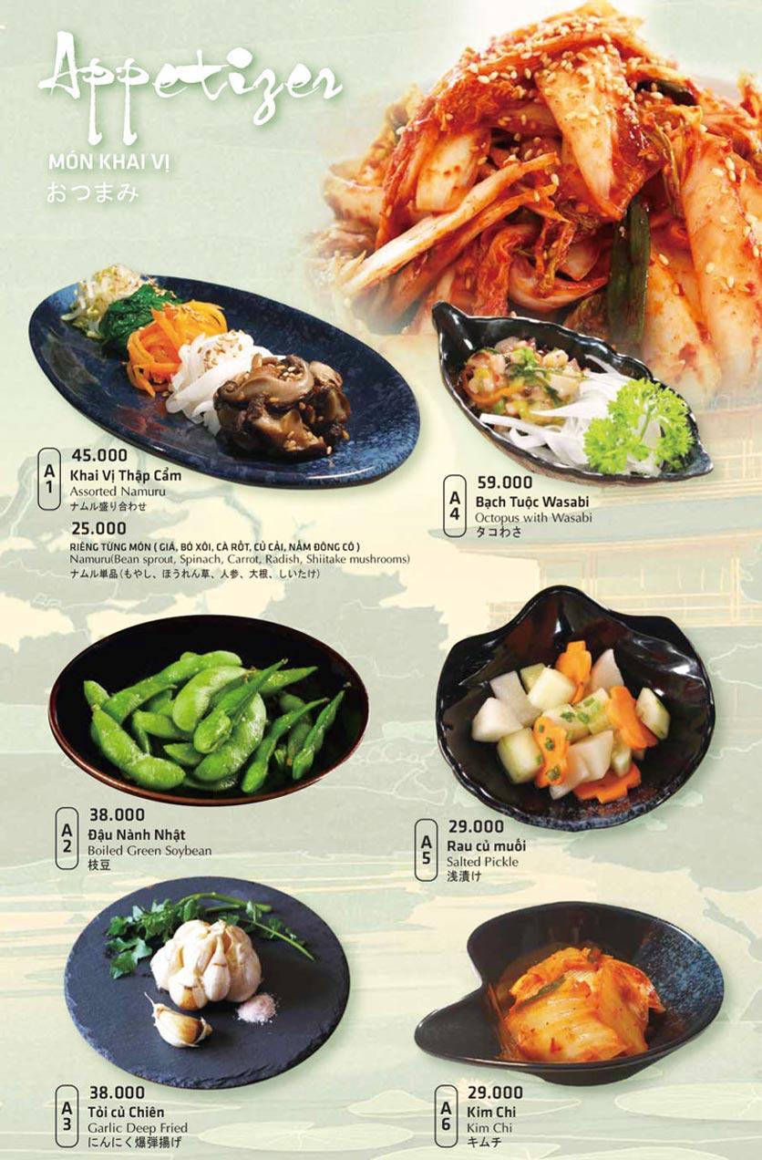 Menu Anrakutei Japanese BBQ - Mạc Đĩnh Chi 24