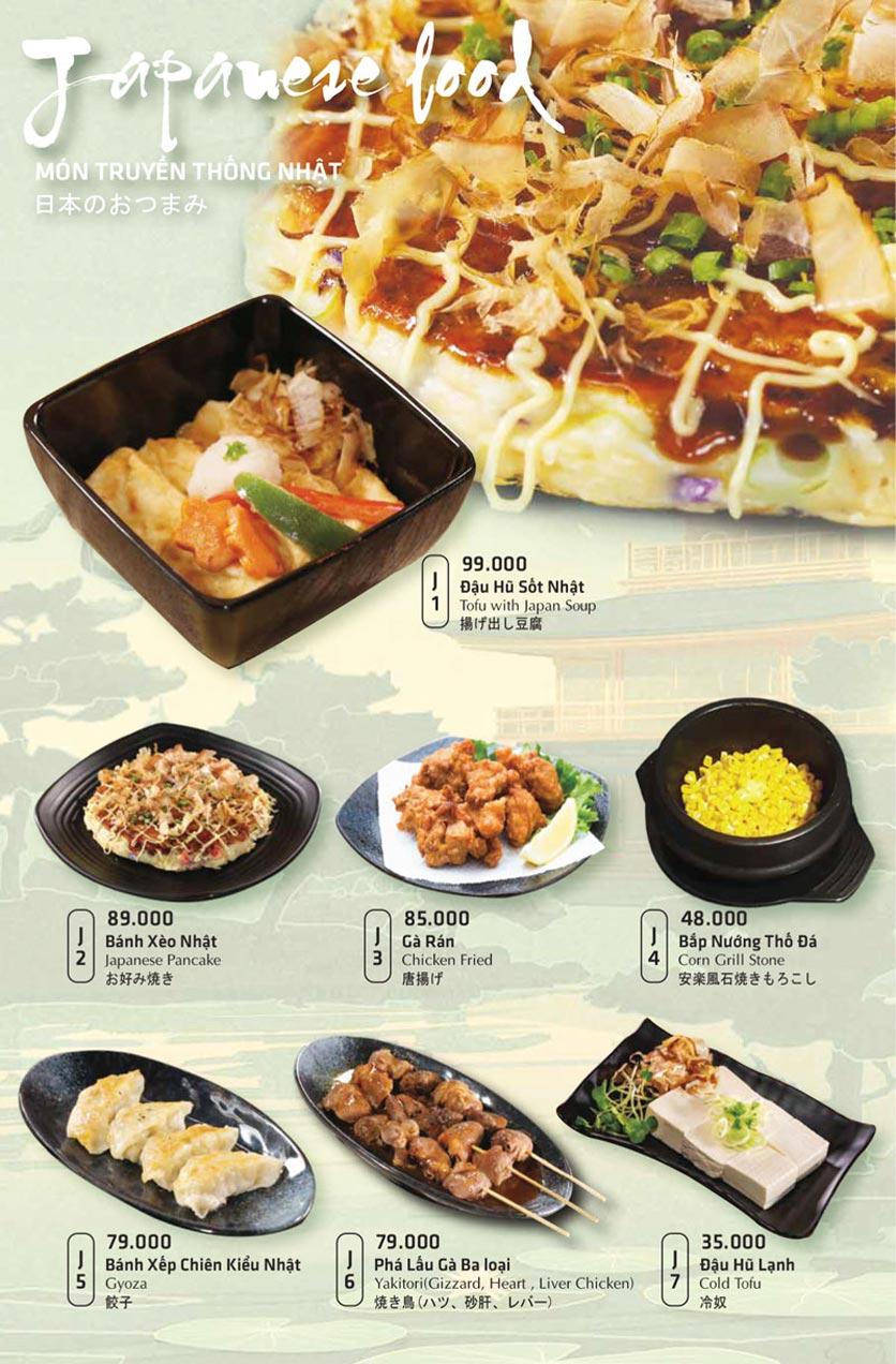 Menu Anrakutei Japanese BBQ - Mạc Đĩnh Chi 25