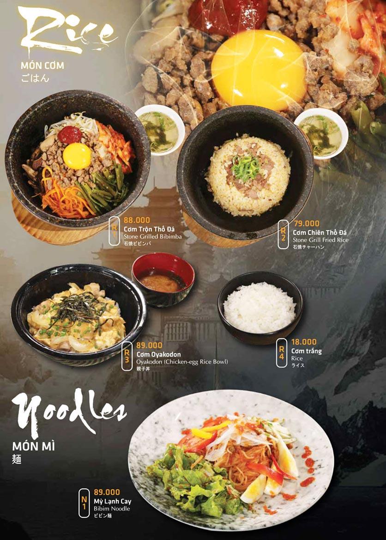 Menu Anrakutei Japanese BBQ - Mạc Đĩnh Chi 26