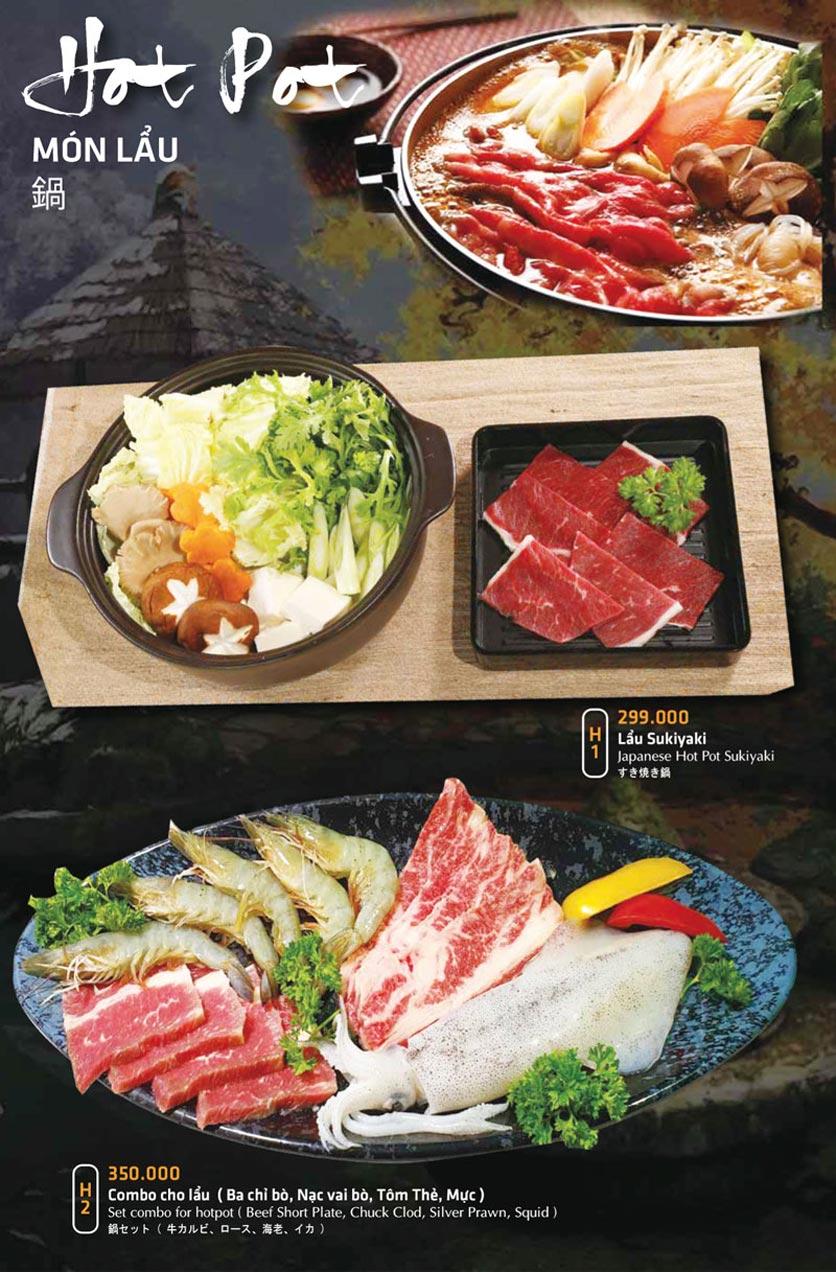 Menu Anrakutei Japanese BBQ - Mạc Đĩnh Chi 28