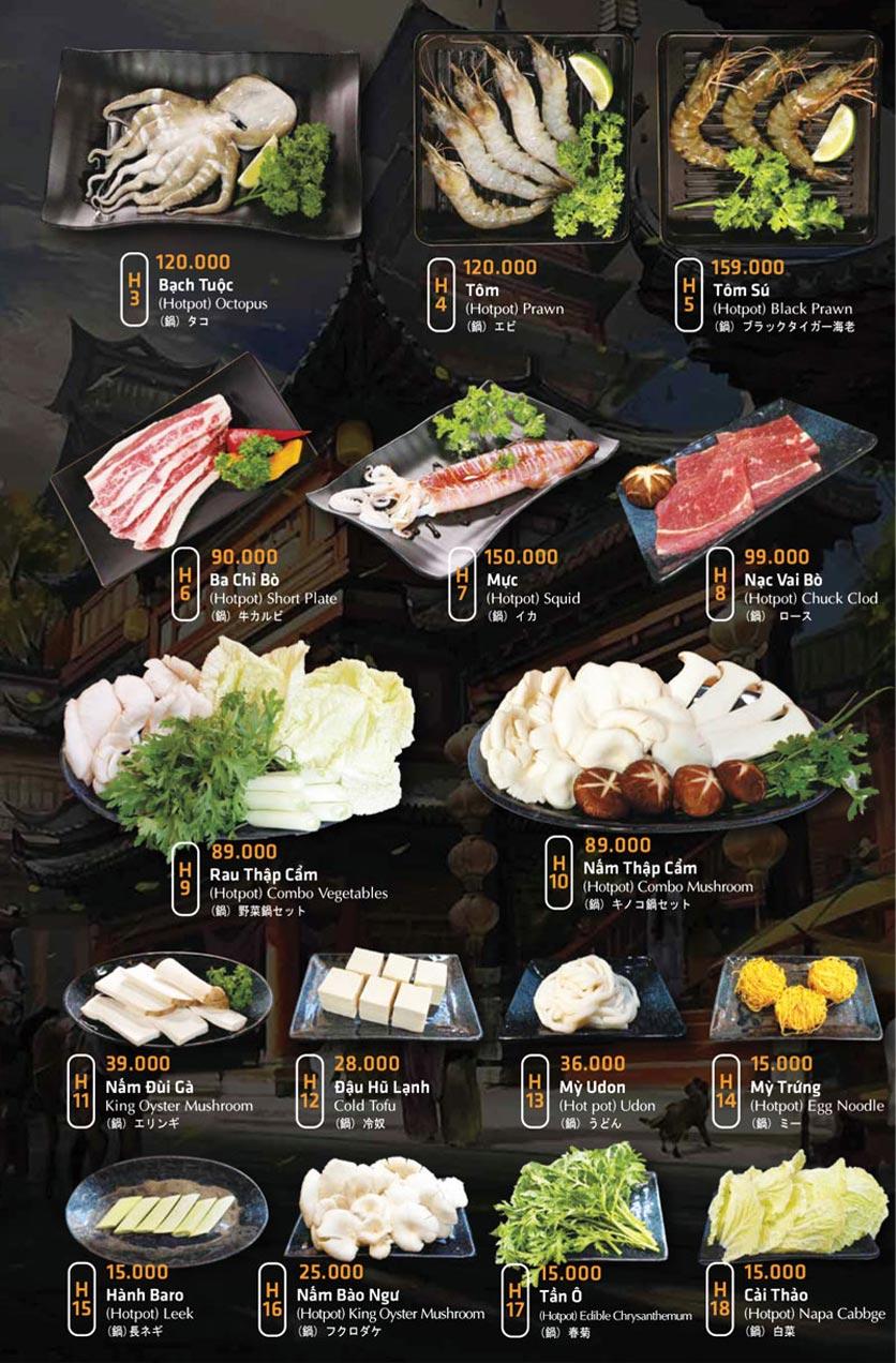 Menu Anrakutei Japanese BBQ - Mạc Đĩnh Chi 29