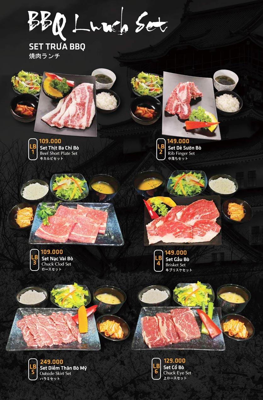 Menu Anrakutei Japanese BBQ - Mạc Đĩnh Chi 30