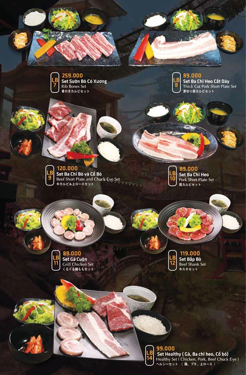 Menu Anrakutei Japanese BBQ - Mạc Đĩnh Chi 31