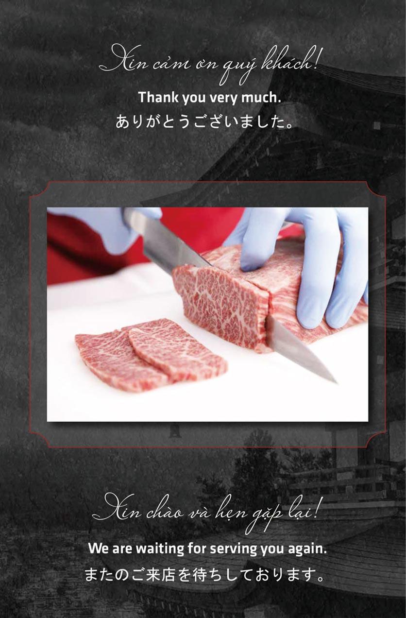 Menu Anrakutei Japanese BBQ - Mạc Đĩnh Chi 33