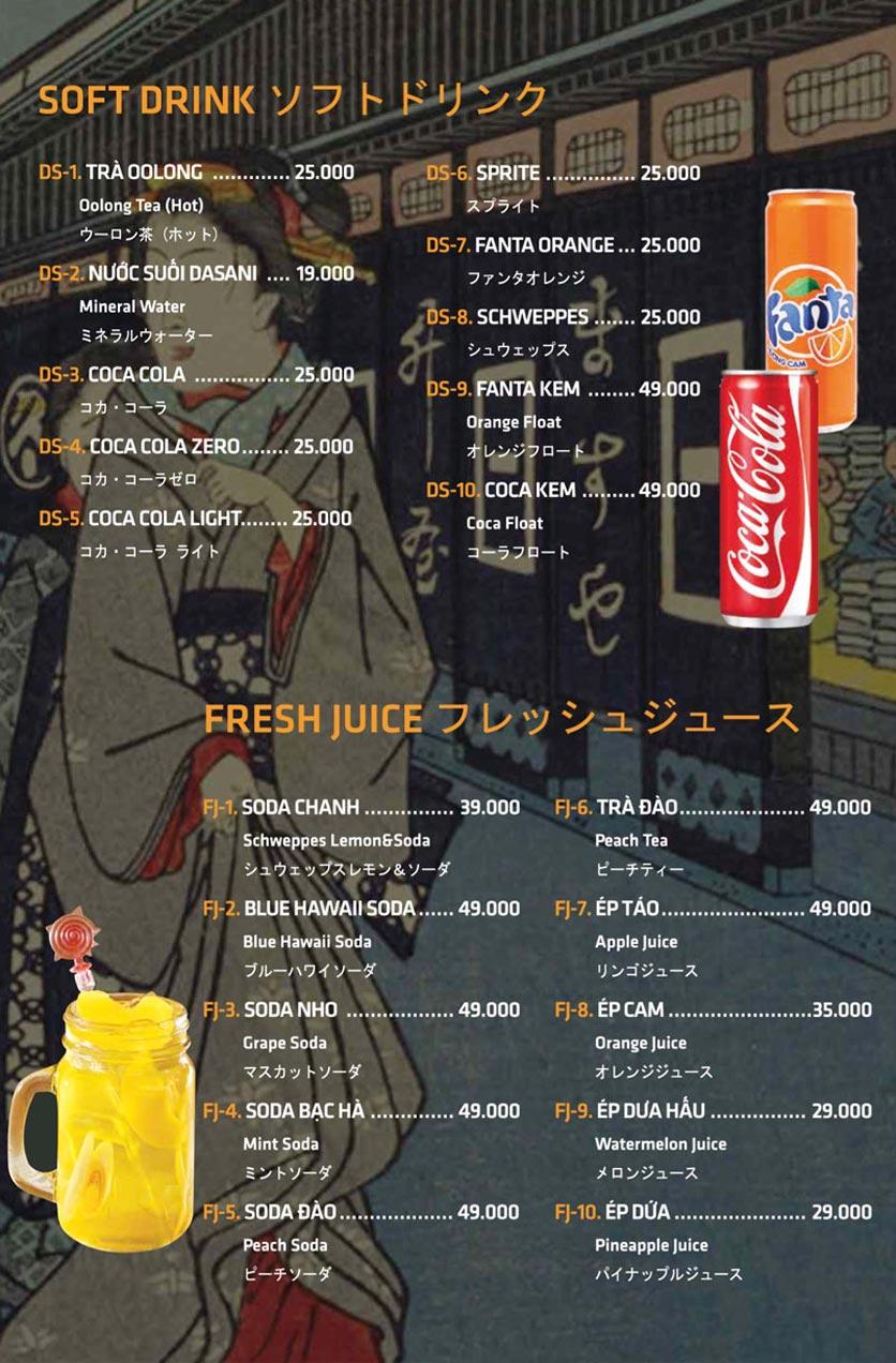 Menu Anrakutei Japanese BBQ - Mạc Đĩnh Chi 39