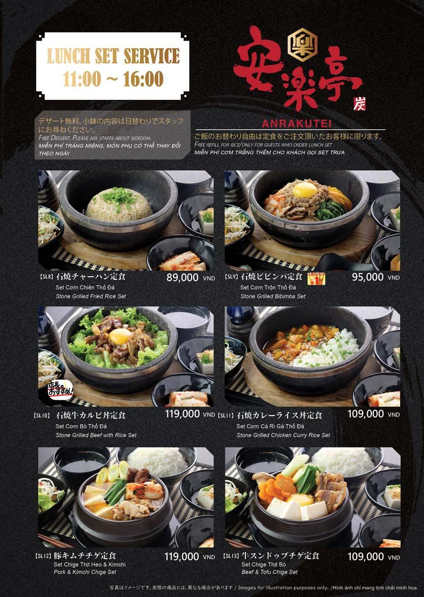 Menu Anrakutei Japanese BBQ - Mạc Đĩnh Chi 10
