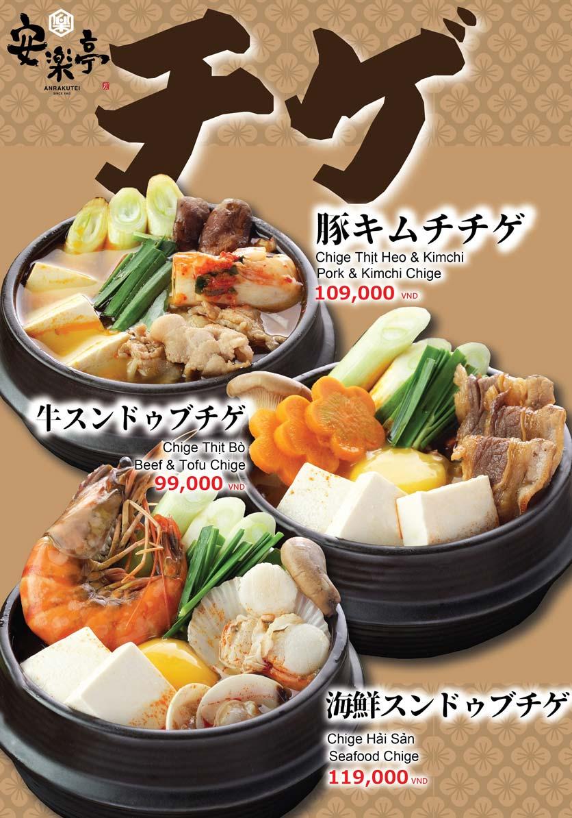 Menu Anrakutei Japanese BBQ - Mạc Đĩnh Chi 13