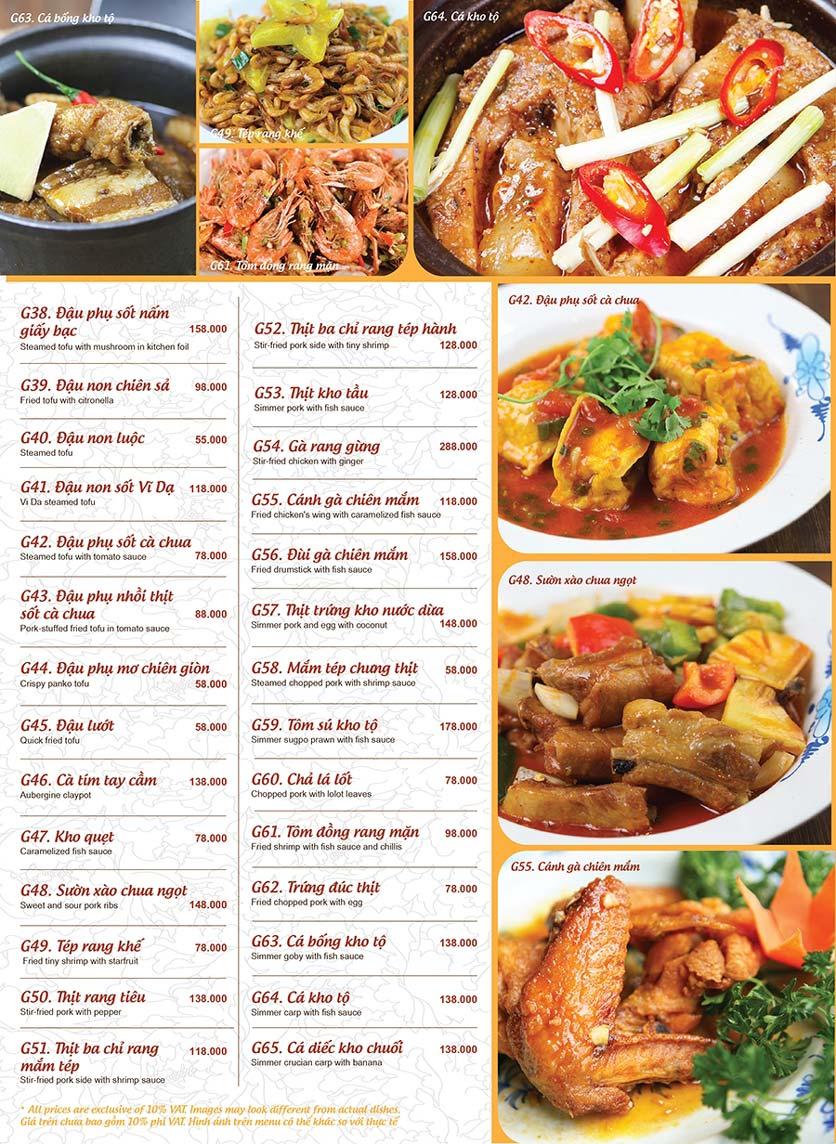 Menu Ao ta - Huỳnh Thúc Kháng 12