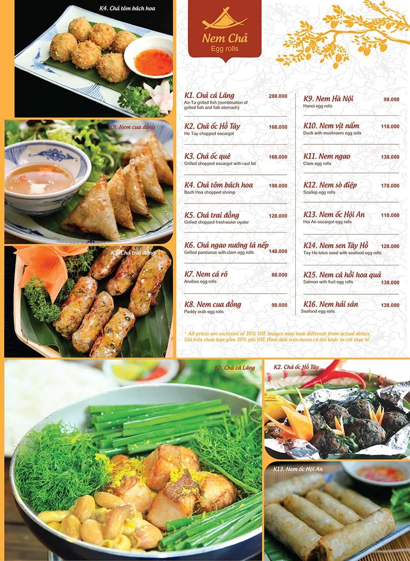 Menu Ao ta - Huỳnh Thúc Kháng 13
