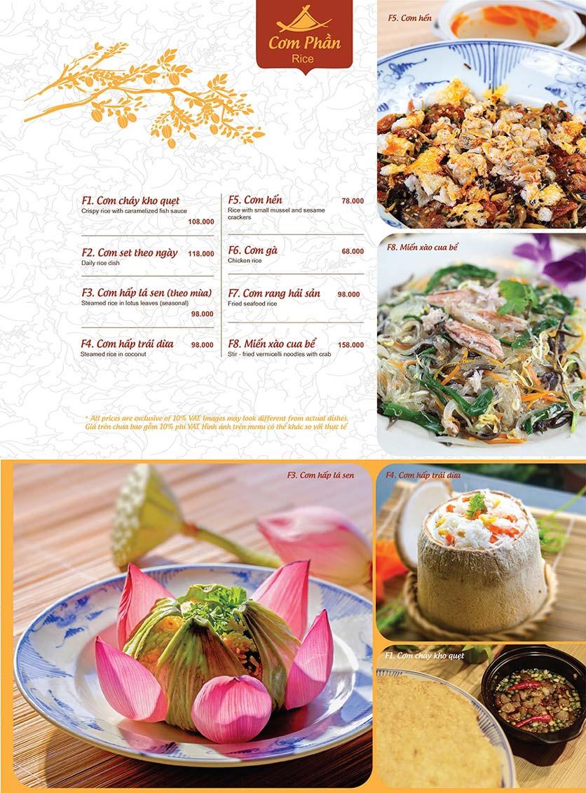 Menu Ao ta - Huỳnh Thúc Kháng 15