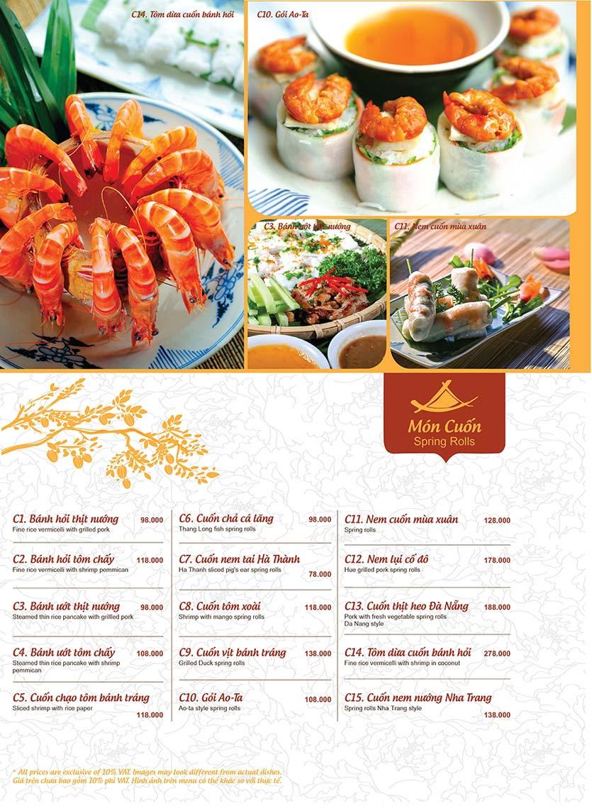 Menu Ao ta - Huỳnh Thúc Kháng 2