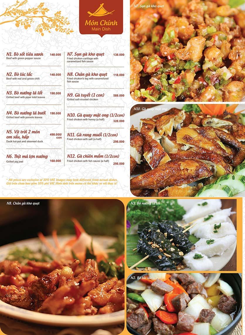 Menu Ao ta - Huỳnh Thúc Kháng 4