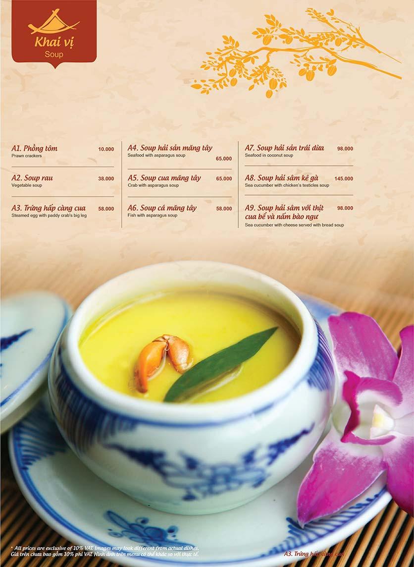 Menu Ao ta - Huỳnh Thúc Kháng 7
